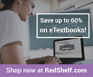 Save up to 60% off on eTextbooks!