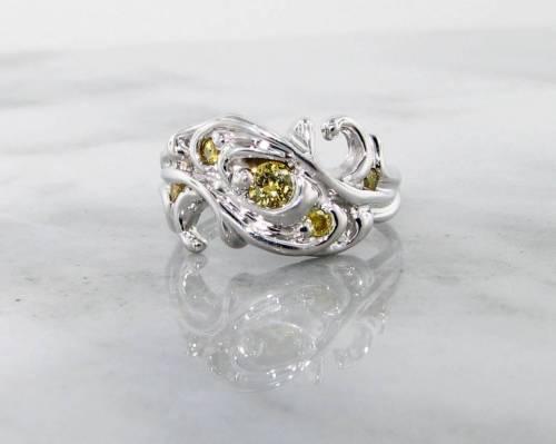 Perfect Motion Yellow Diamond G Yellow Diamond G Swirl Wexford Jewelers Yellow Diamond Engagement Rings Prices Yellow Diamond Engagement Rings Finks