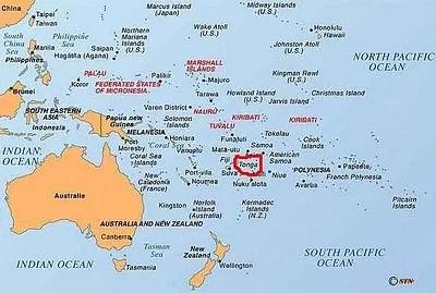 map tonga island