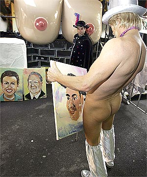 painting his cock
