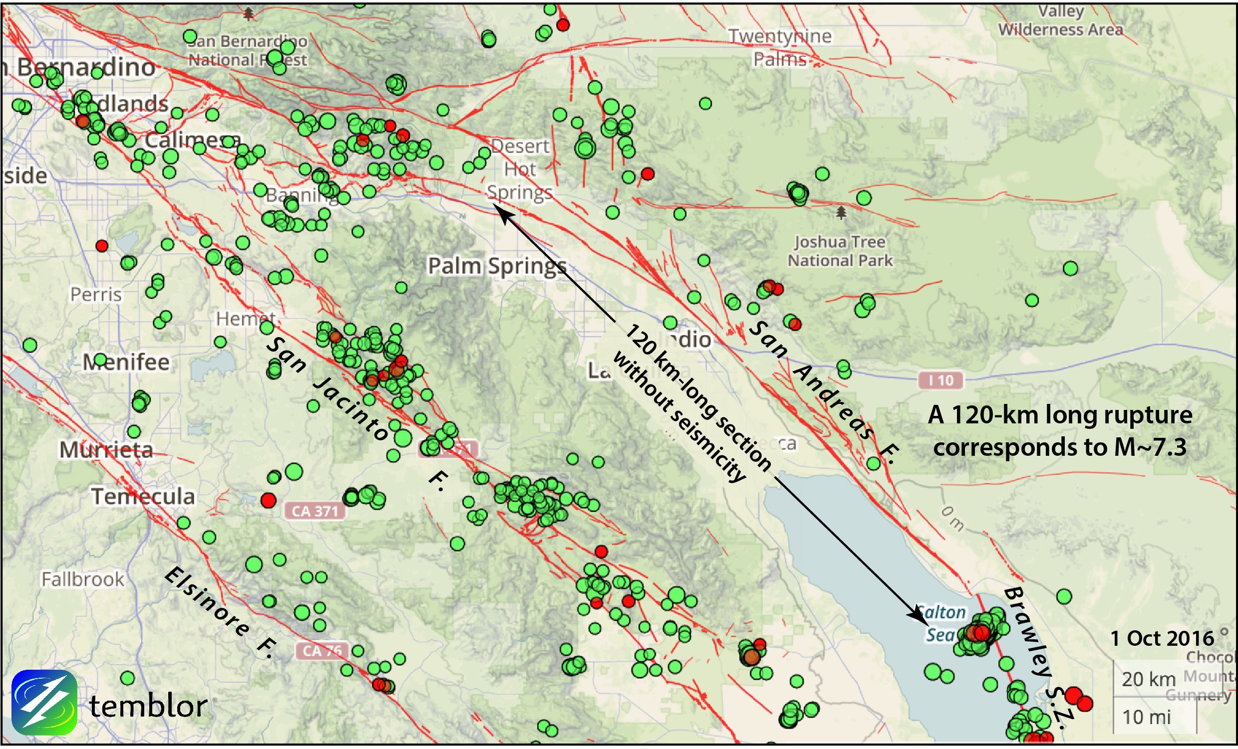 map san andreas fault line