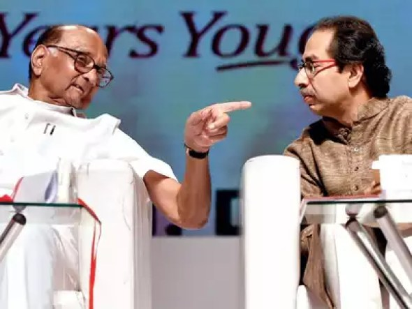 Image result for sharad pawar and Uddhav Thackeray