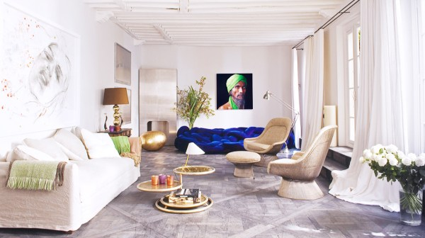 Sophisticated minimal Parisian apartment by design firm D.Mesure via Thou Swell