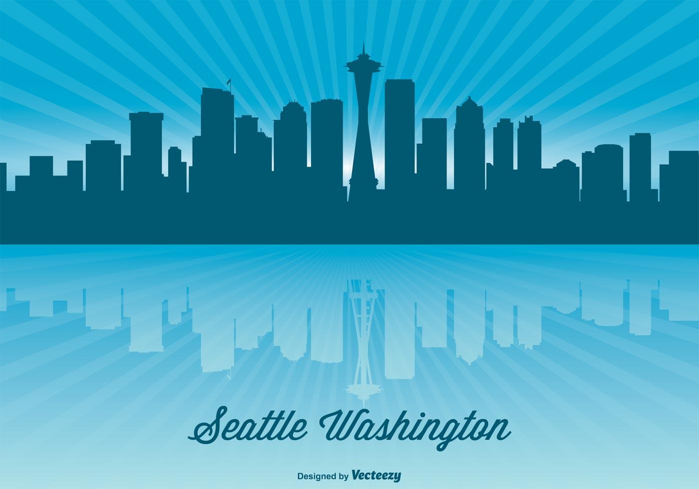 Stylized Mountain Seattle Skyline Outline Frasier Seattle Skyline Free Vector Art Free Seattle Skyline Outline houzz 01 Seattle Skyline Outline