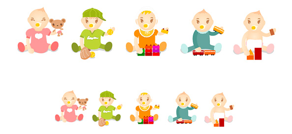 5 Baby Vector Characters