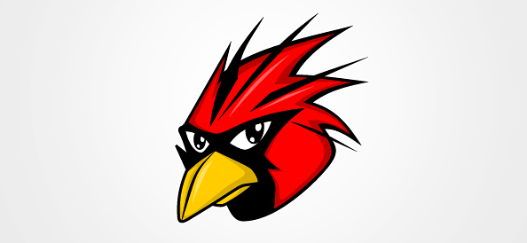 Red Bird Vector Illustration