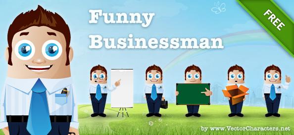 Vector Businessman Characters in 6 Postures