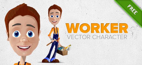Worker Vector Character