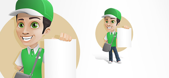 Delivery Boy Vector Character