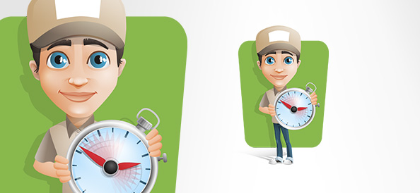 Delivery Man Vector Character