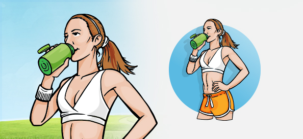 Vector Illustration of a Fitness Girl