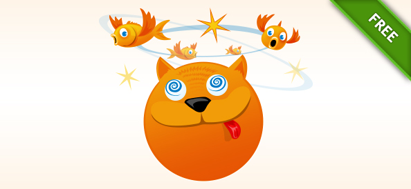 Funny Cat Vector Illustration