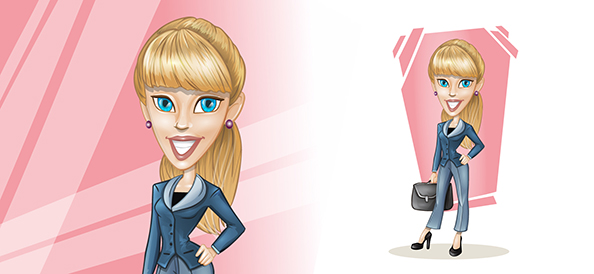 Vector Blonde Businesswoman