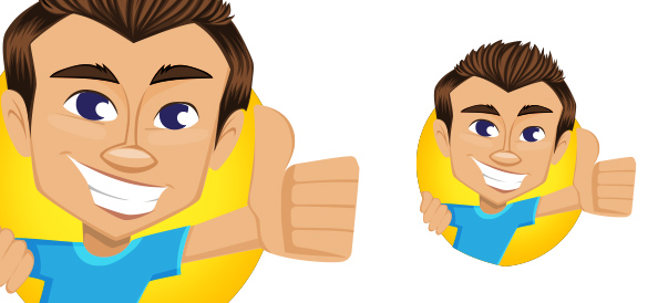 Vector Thumbs Up Guy - Vector Characters