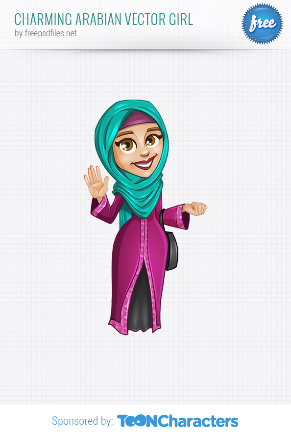 Charming Arabian Vector Girl