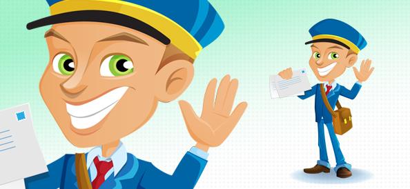 Vector Postman