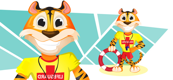 Vector Tiger Lifeguard