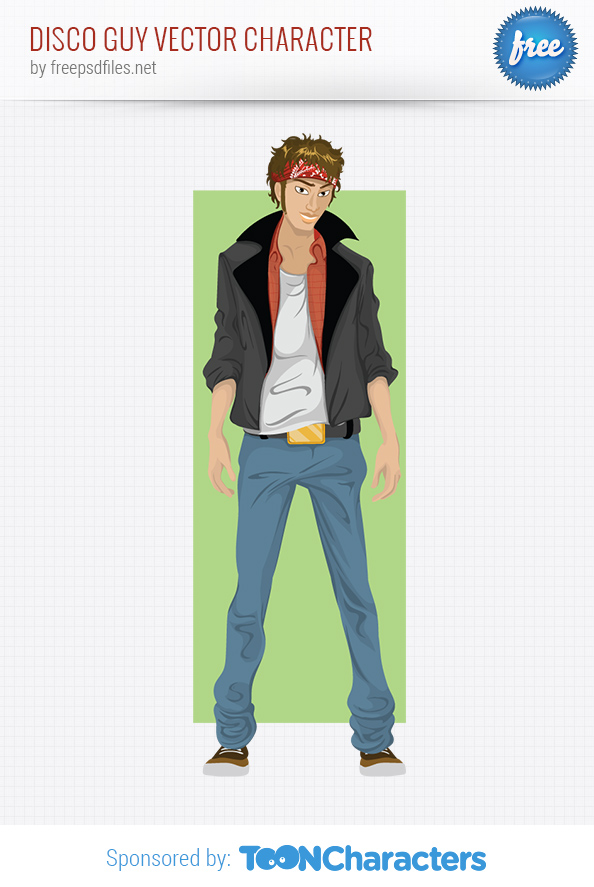 Disco Guy Vector Character