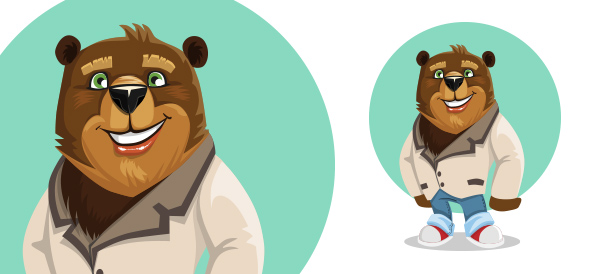 Cute Vector Little Bear