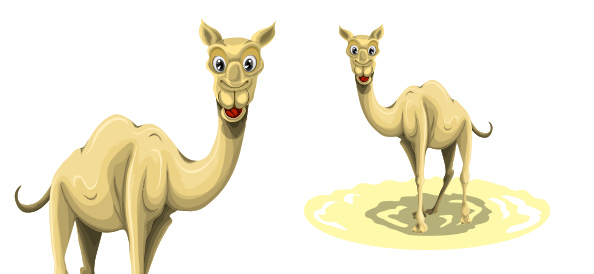 Free Vector Camel Character