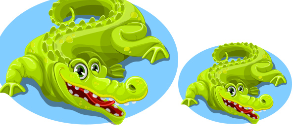 Free Vector Cute Crocodile Character