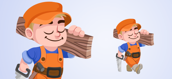 Vector Carpenter Boy
