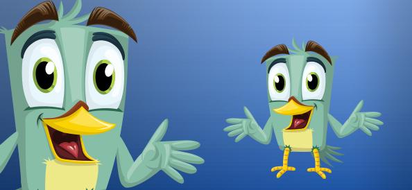 Cheerful Vector Bird