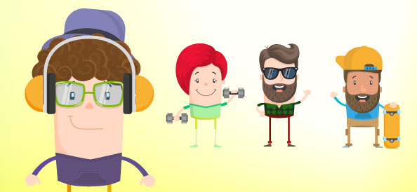 Flat Character Vector Set