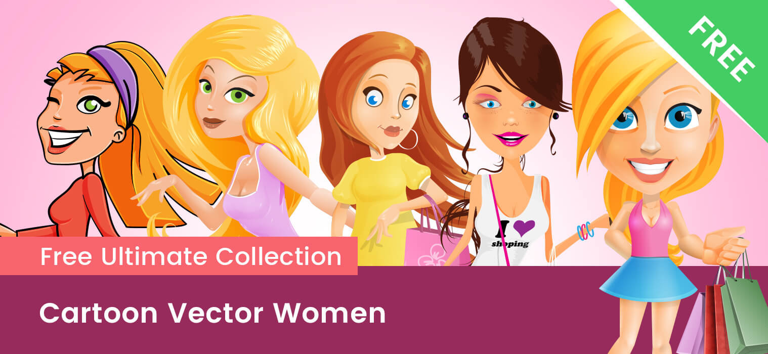 Cartoon Vector Women – Free Collection