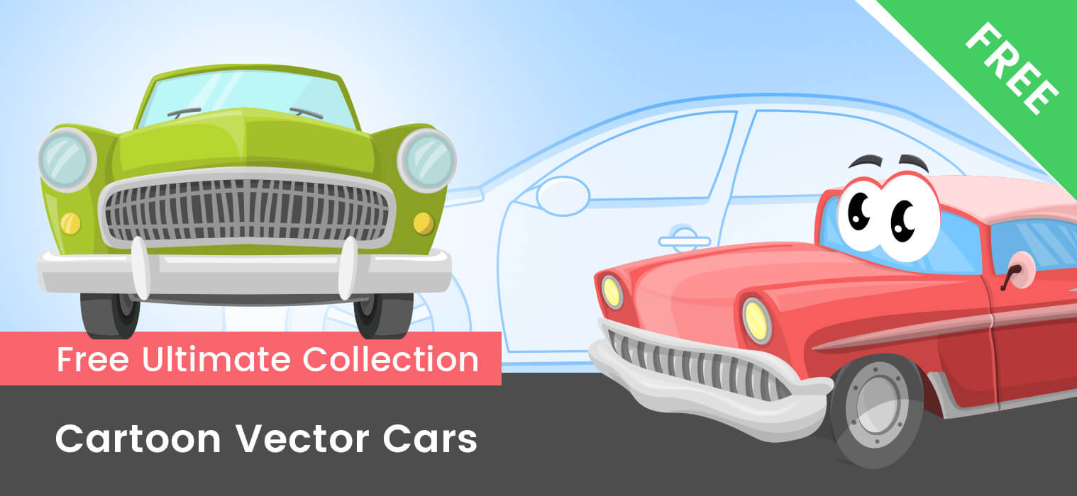 Free Cartoon Cars Vector Mega Collection