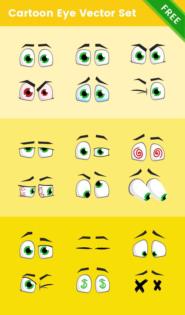 free cartoon eye vector set