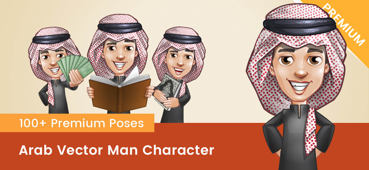 Arab Vector Man Character