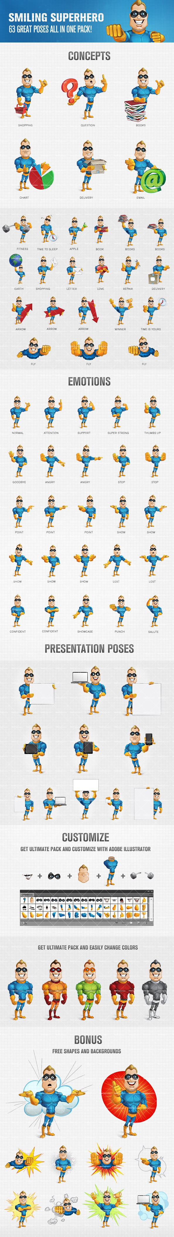 Fit Superhero Vector Cartoon