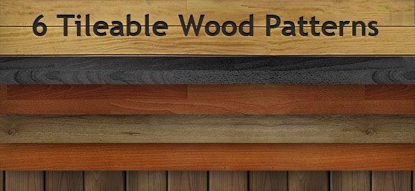 6 Tileable Wood Patterns