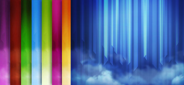 Abstract Lined Backgrounds with Smoke Effects