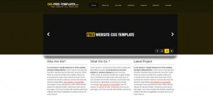 Brown Portfolio Website CSS Template with jQuery Effects