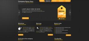 Dark Portfolio Website CSS Template with Nice Slider