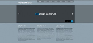 Website CSS Template with jQuery Slider for Creative Artists