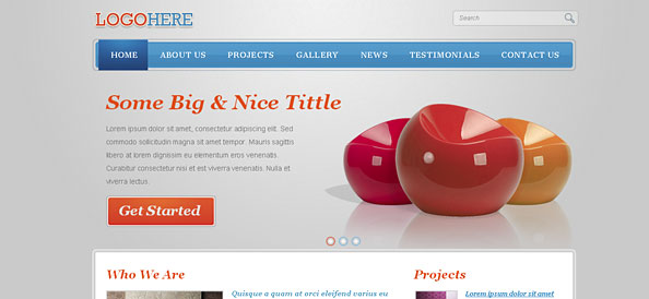 Free Portfolio Website CSS Template with jQuery Slider