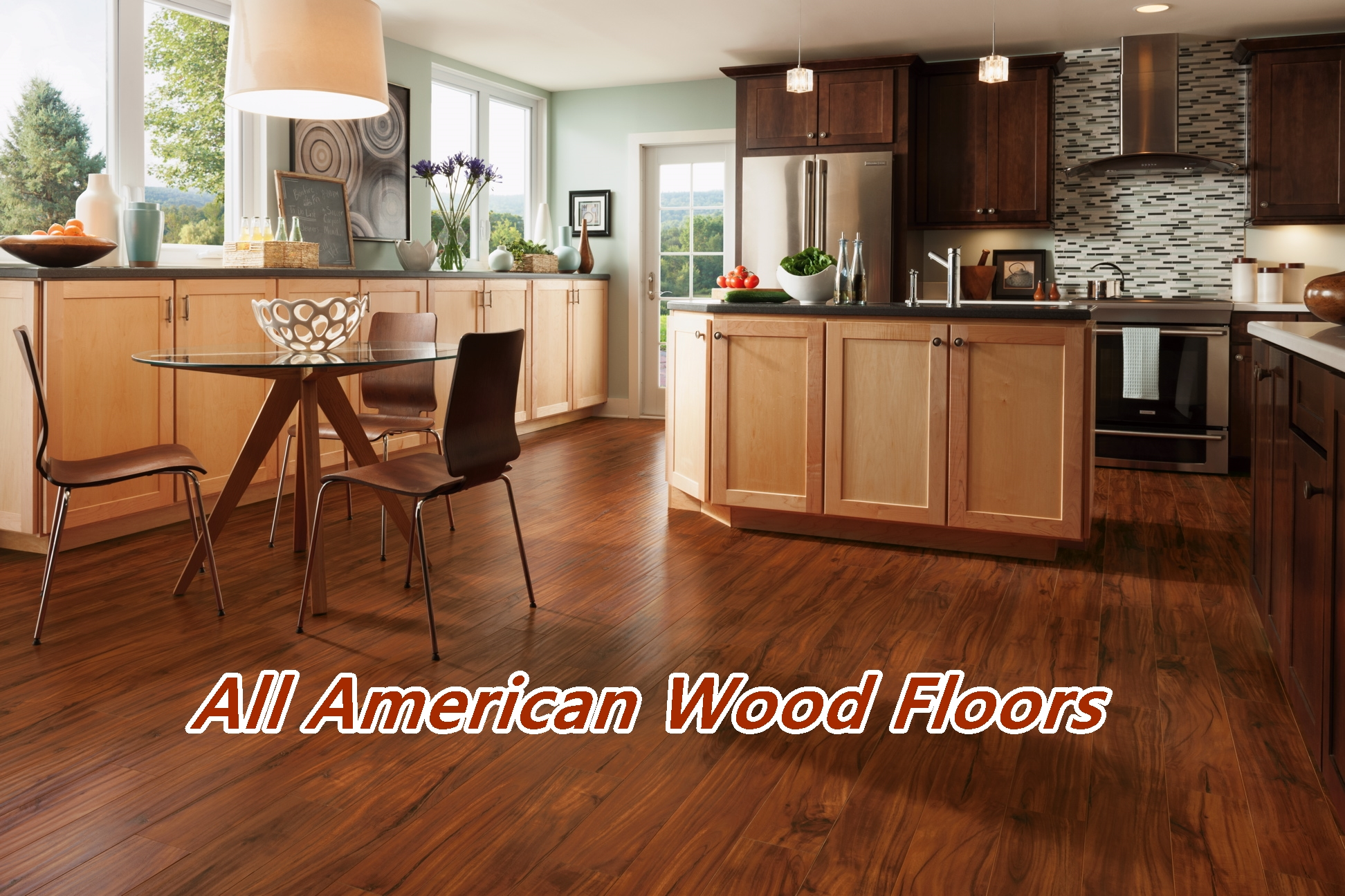 allamerican woodfloors hardwood floor in kitchen