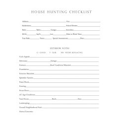 Small Crop Of House Hunting Checklist