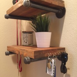 Pipe Shelf Brackets Wood Shelf Not Included Home Knotty By