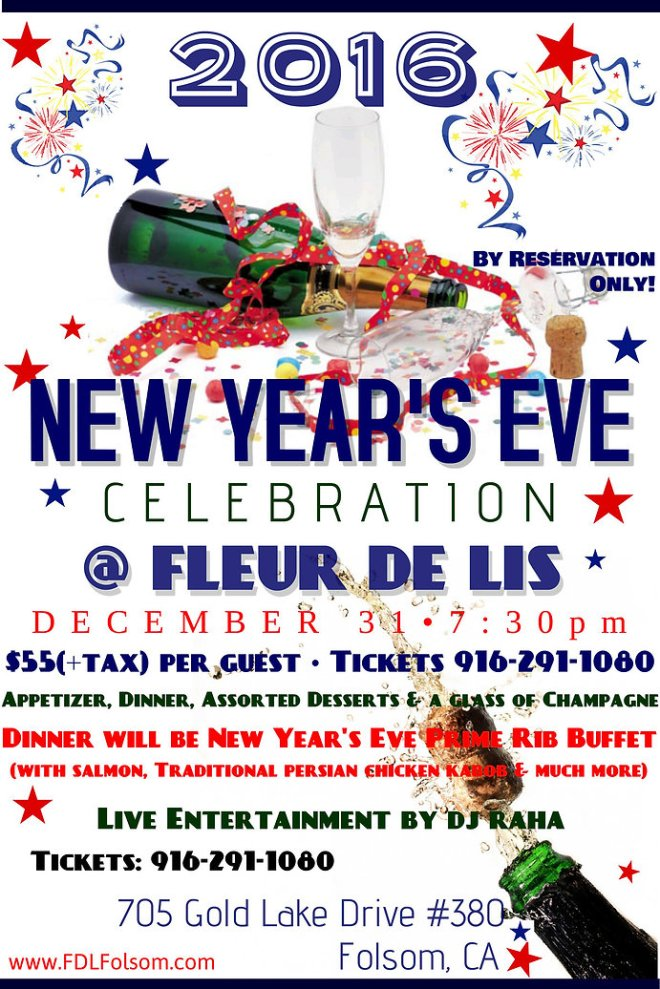 Let the new year '2016 ring at Fleur De Lis!