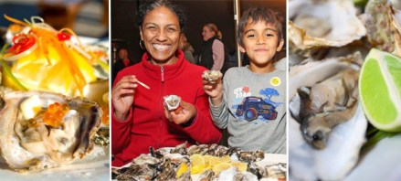 enjoying oysters at the P'nP Knysna Oyster Festival