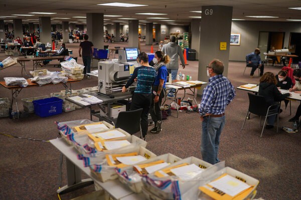 Large numbers of ballots remain to be counted in Milwaukee.