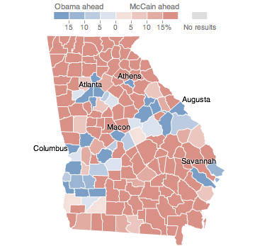 Georgia   Election Results 2008   The New York Times Ga