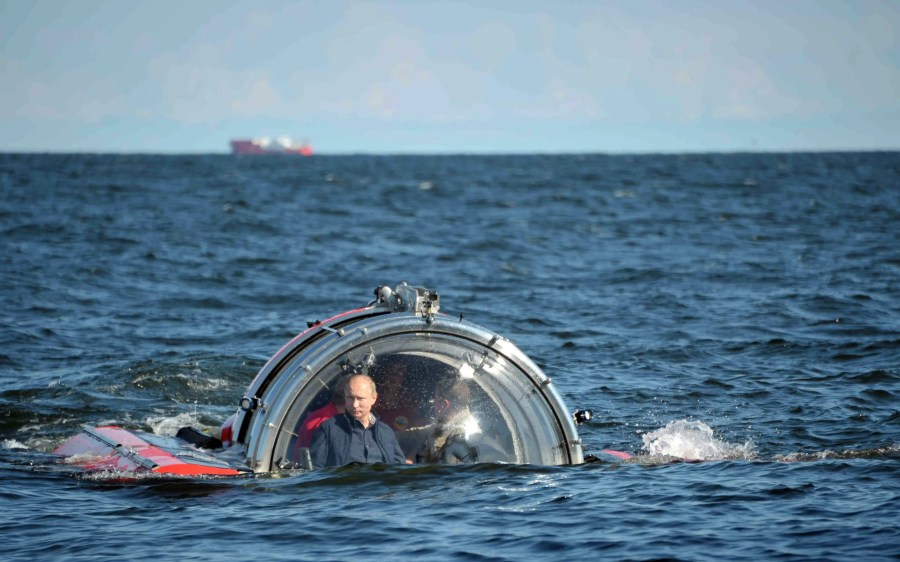 He even goes below the water on expeditions to see some of Russia's historical shipwrecks.