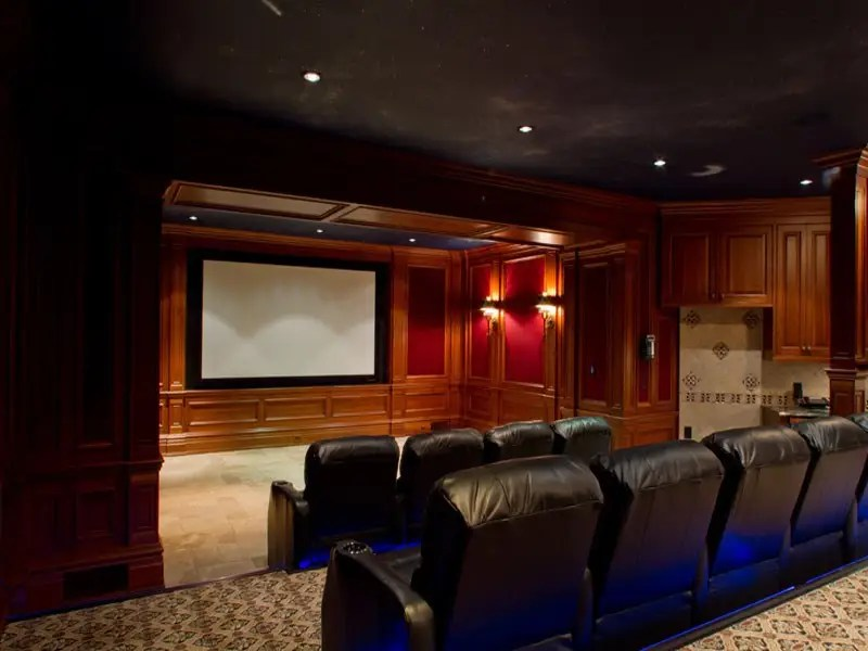 And even a movie theatre with stadium seating.