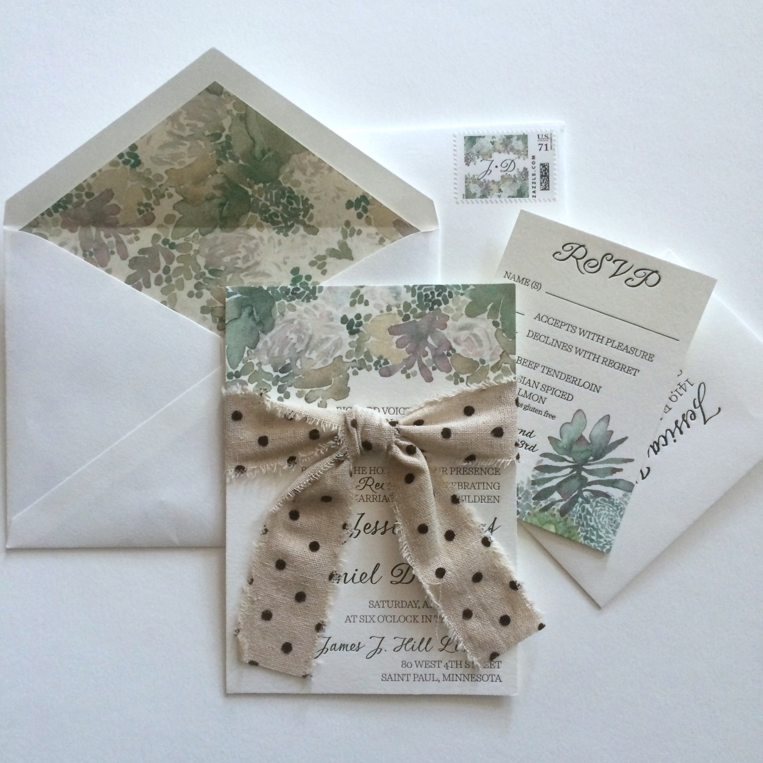 succulent wedding invitations succulent wedding invitations watercolor floral succulents with letterpress text invitation and liner with custom stamp and linen ribbon
