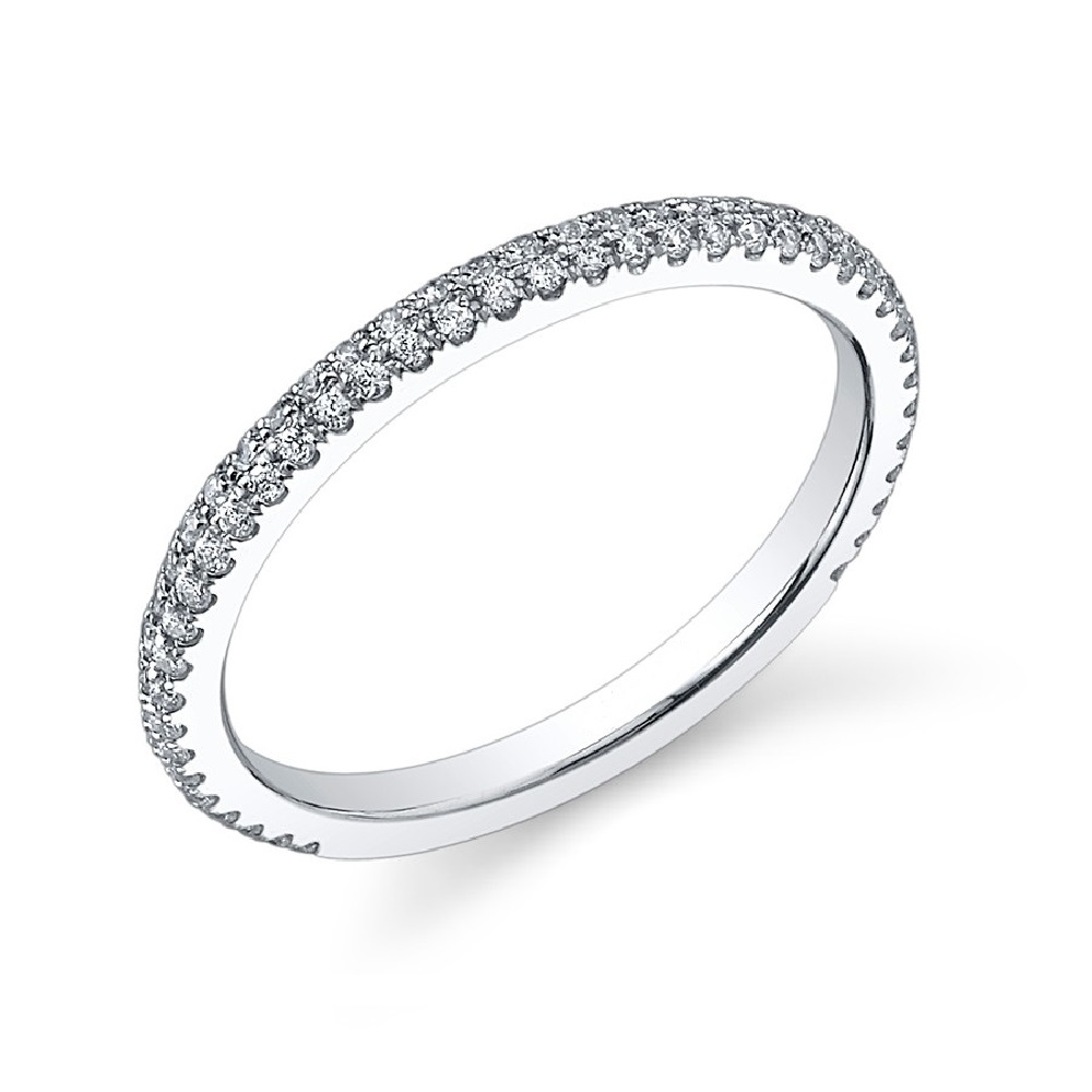 wedding pave diamond wedding band LADIES classic PAV set DIAMOND WEDDING BAND
